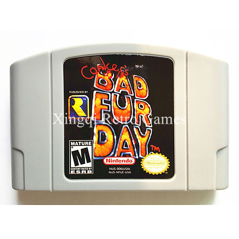 Nintendo N64 Game Conker's Bad Fur Day Video Game Cartridge Console Card English Language US Version