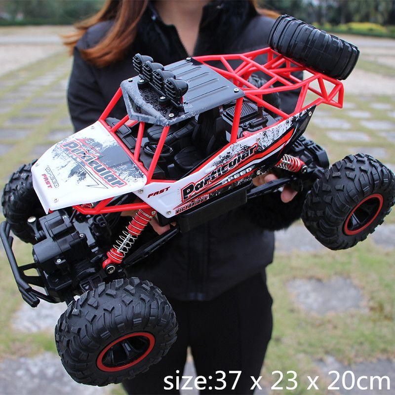 1/12 RC Voiture 4WD escalade Voiture 4x4 Double Moteurs D'entraînement Bigfoot Voiture Télécommande Modèle Hors-Route véhicule jouets Pour Garçons Enfants Cadeau