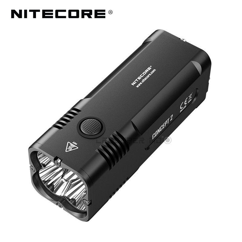 New Arrival Nitecore Concept 2 CREE XHP35 HD LED Torch Light 6500 Lumens Super Bright Flashlight with Beam Distance 398 m