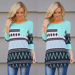 Mujer Lady Loose Tops manga larga blusa camisa casual Tops nueva moda blusa mujeres ropa