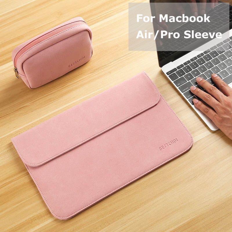 Nouveau Mat Sac D'ordinateur Portable pour Macbook Air 13 12 Pro 13 Cas Manches Femmes Hommes Sac Étanche pour Macbook touchbar 13 15 Housse