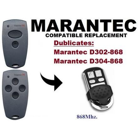 Marantec D302,D304 868Mhz Garage Door/Gate compatible Remote Control Duplicator free shipping