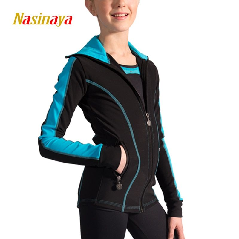 Customized Figure Skating Suits Jacket and Pants Long Trousers for Girl Women Training Patinaje Ice Skating Warm Gymnastics 12