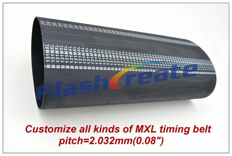 Spezialisierung anpassen in die produktion von alle arten von MXL zahnriemen pitch = 2,032mm (0,08