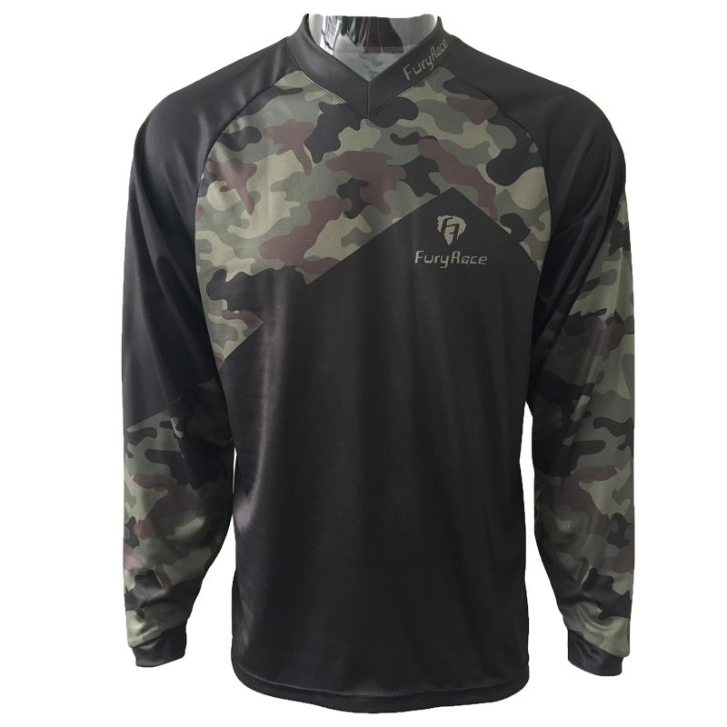 Camouflage Mountain Bike Shirts Cycling Maillot Mens MTB Clothing Motocross Motorcycle Bicycle T-shirt Women's Downhill Jersey