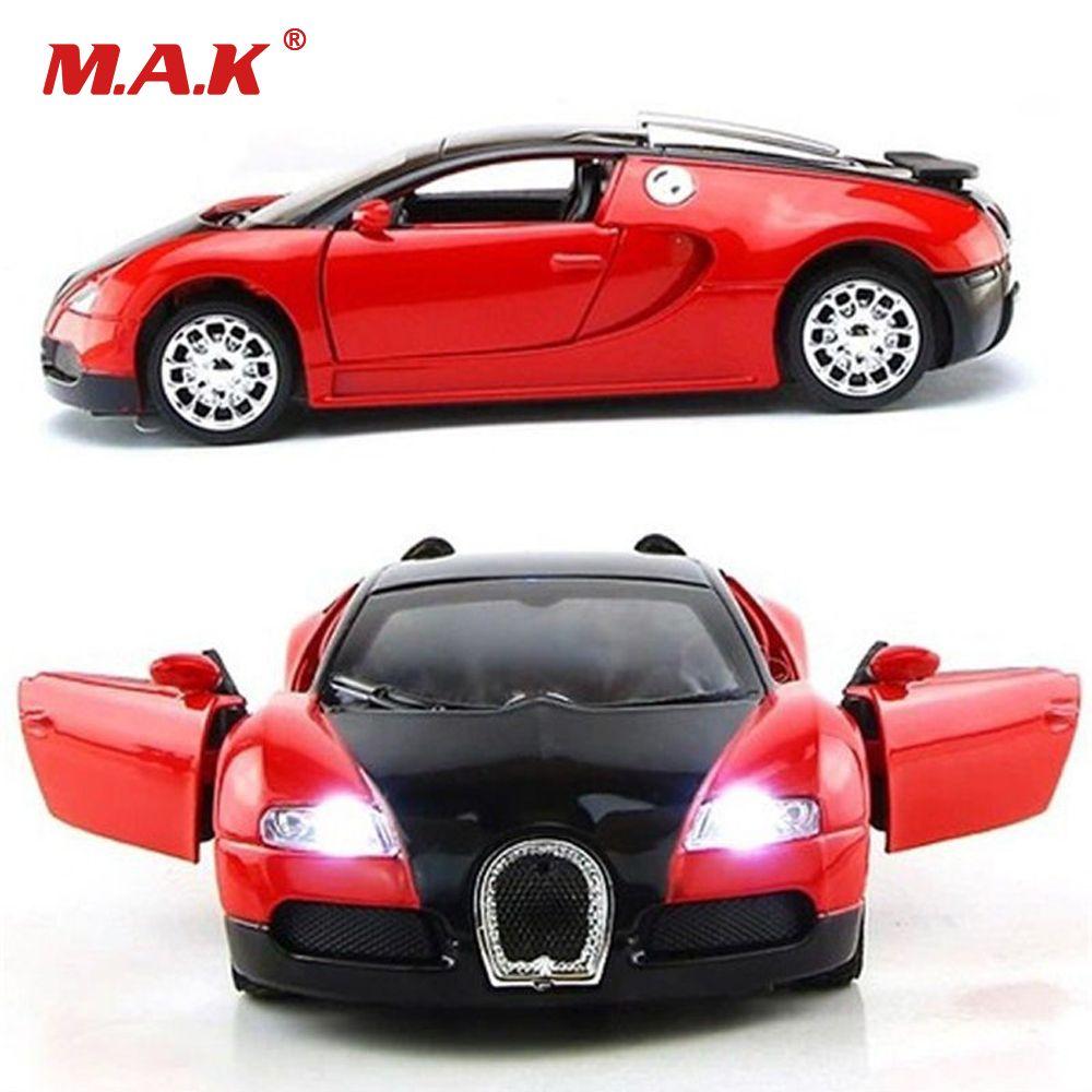 1:36 Échelle Modèle De Voiture Bugatti Veyron Modèle de Voiture Miniature Avec Son et Lumière Jouets Voiture De Collection Véhicule Cadeau Pour Enfants