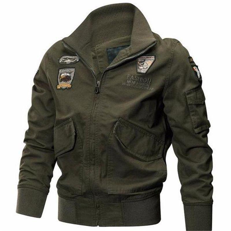 2018 Military jacket winter jacket cotton coat army pilot Jackets Air Force cargo coat spring type slim