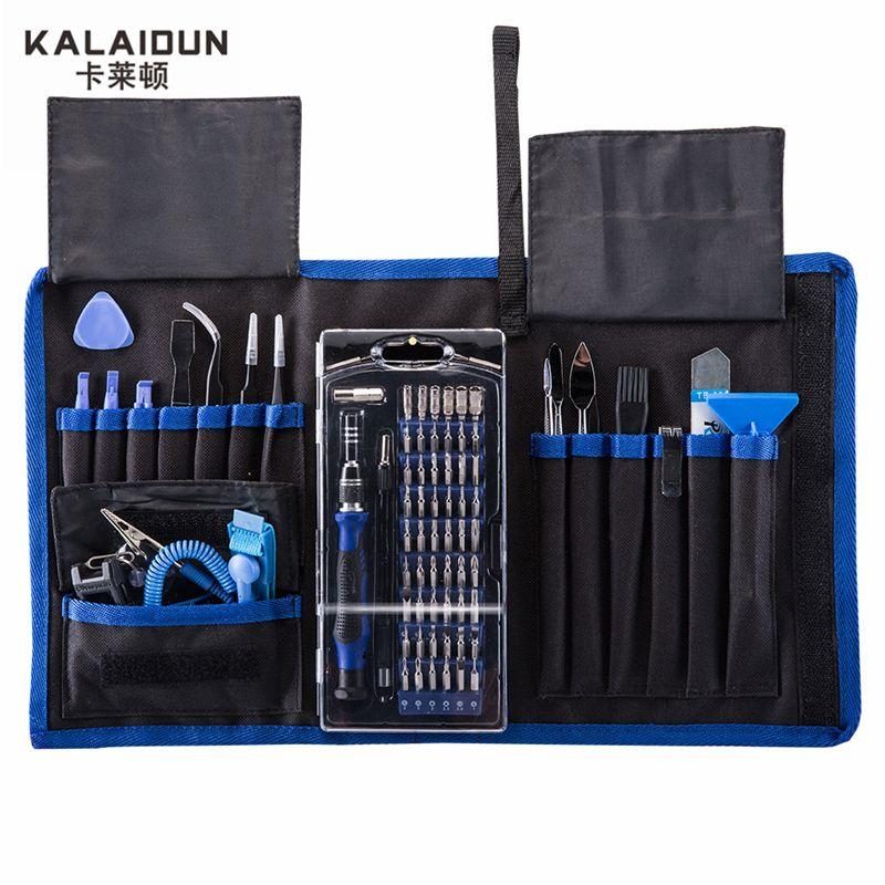 KALAIDUN 82 en 1 avec Kit de tournevis magnétique 57 bits ensemble de tournevis de précision outils à main pour Kit d'outils de réparation d'électronique de téléphone
