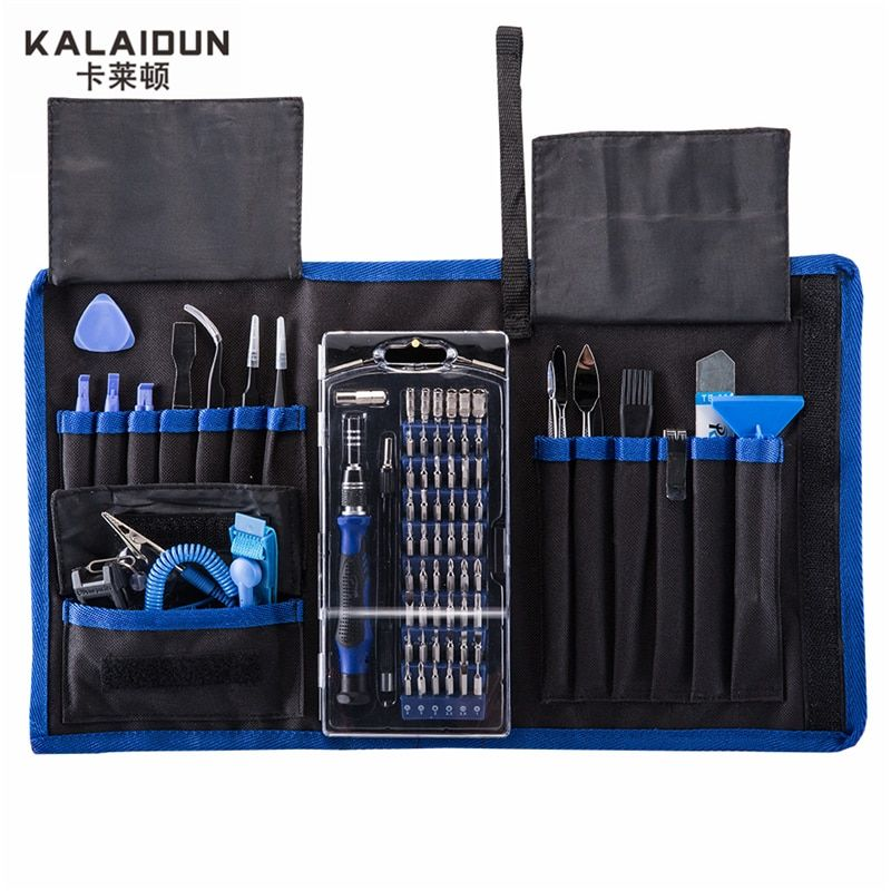 KALAIDUN 82 in 1 with 57 Bit Magnetic Driver Kit Precision Screwdriver set Hand Tools for Phone <font><b>Electronics</b></font> Repair Tool Kit