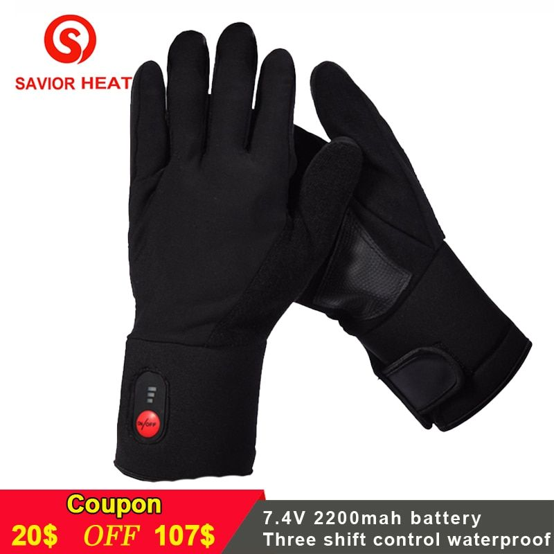 SAVIOR Winter Warm electric Battery heated Gloves Rechargeable for skiing fishing riding hunting keep hands warm men women