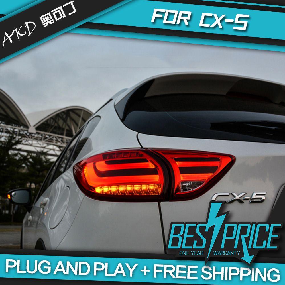 AKD tuning autos Schwanz lichter Für Mazda CX-5 CX5 2013-2016 Rückleuchten LED DRL tagfahrlicht Nebel lichter engel augen Hinten parkplatz