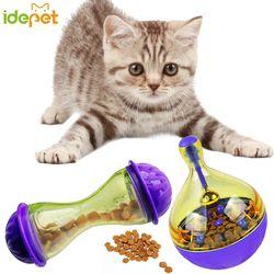 Gato alimentos bola interactivo juguete Tumbler huevo inteligente gato jugando juguetes Treat bola sacudiendo para perros aumenta IQ 6c4