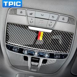 Serat karbon Mobil Interior Membaca Cahaya Panel Penutup Potong Car Sticker Untuk Mercedes C Class C180 C200 W205 GLC Aksesoris