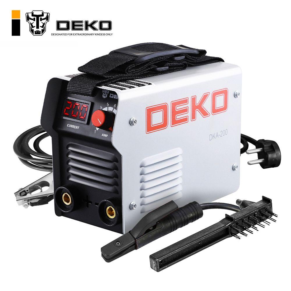 DEKO DKA-200G 200A 4.1KVA IP21S Inverter Arc Elektrische Schweißen Maschine 220 v MMA Schweißer für Schweiß Arbeiten und Elektrische Arbeits