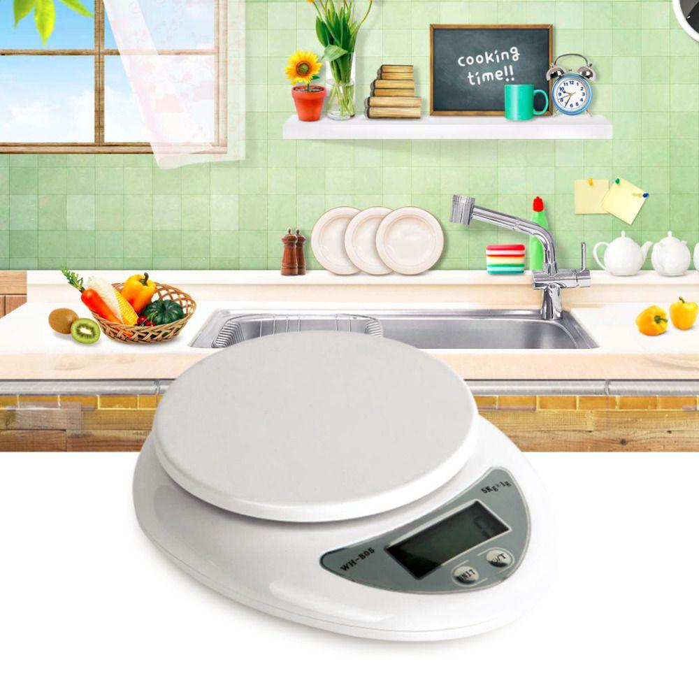 OUTAD Кухонные весы электронные светодиодные 5000 г/1 г 5 кг Еда Диеты Почтовый Кухня цифровой Весы баланс измерения Весы