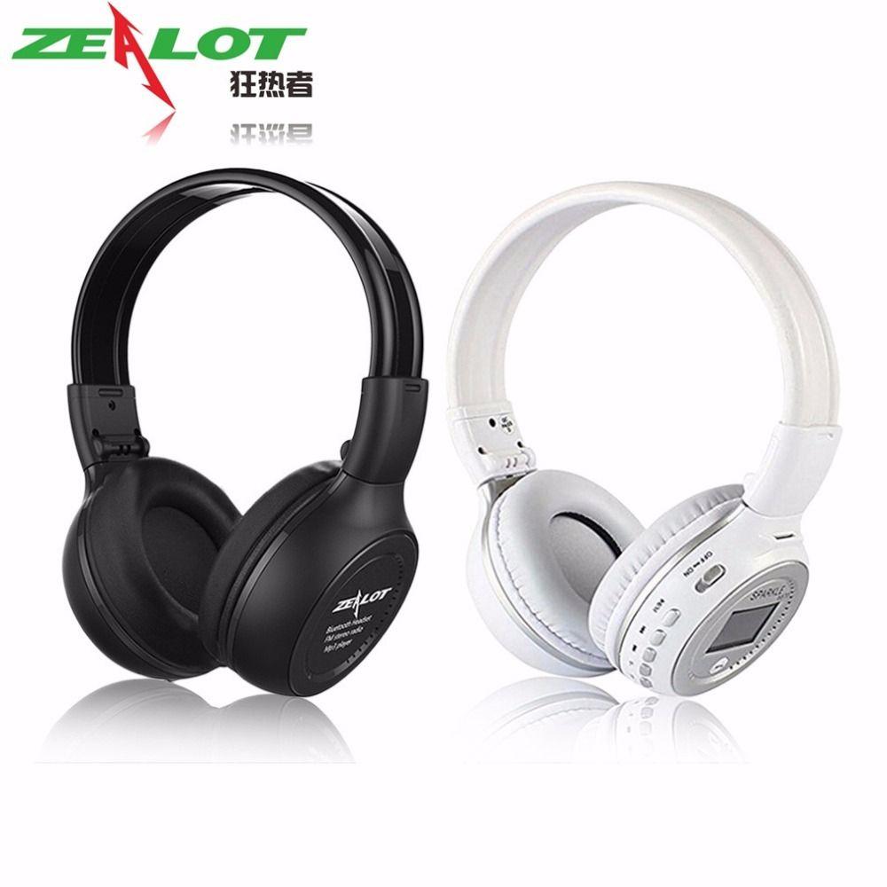 Original ZEALOT B570 Foldable HiFi Stereo Wireless Bluetooth Headphone With LCD Screen FM Radio Mic Support TF Card
