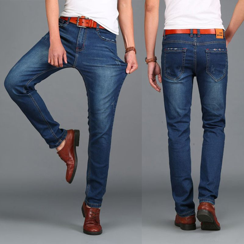 Fashion Designer Jeans For Men Jeans Famous Brand Size 44 HIGHT QUALITY Calca jeans masculina tamanho 46 48 big size 2018 Winter