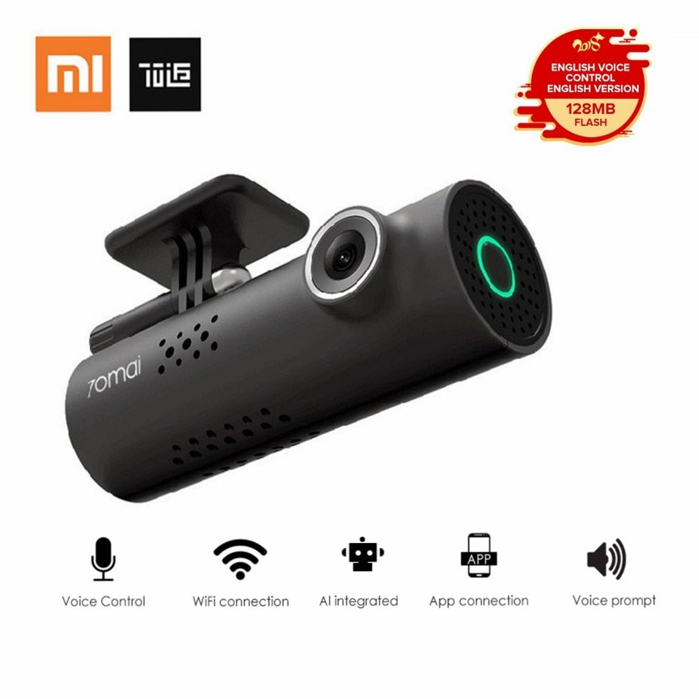 Xiaomi 70 Minutes Smart WiFi DVR 130 <font><b>Degree</b></font> Wireless Car Dash Cam 1080P Full HD Night Version G-Sensor Driving Recorder