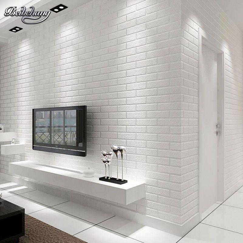 Beibehang Weiße ziegel wand schlafzimmer esszimmer tapete moderne 3D tapete hause dekoration tapete für wände 3 d behang