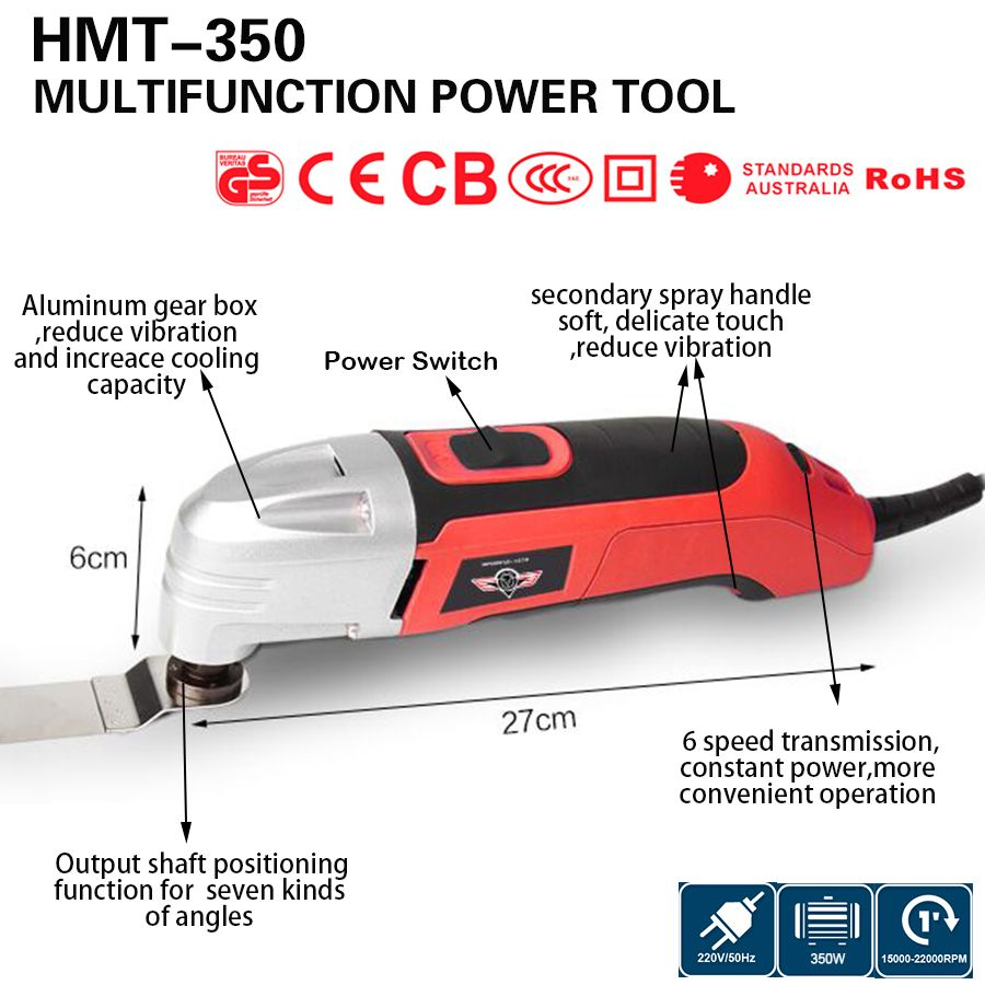 Multifunction Power Tool Electric Trimmer ,<font><b>350w</b></font> Multi Master Oscillating Tool ,DIY renovator tool at home ,wood working set .