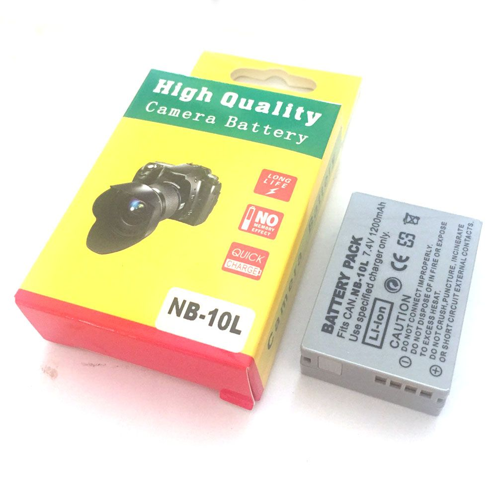 NB-10L batteries NB10L NB 10L Camera Battery for Canon G1X G15 G16 SX40HS SX50HS SX60HS SX40 SX50 SX60 HS