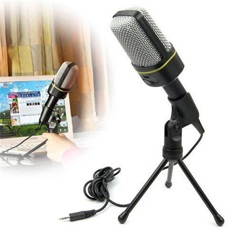 Pas cher ordinateur condensateur Microphone support Studio Microphone 3.5mm filaire Clip rétro Mini poche Style Microphone de bureau pour Pc