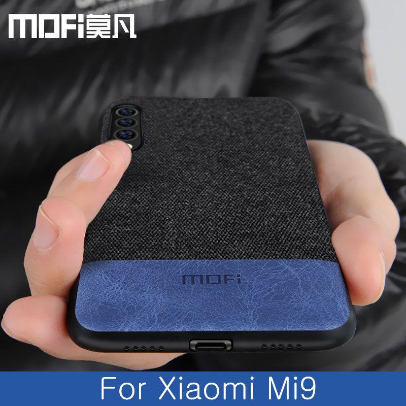 For Xiaomi mi9 case cover global back cover silicone protective fabric cloth shockproof cases capas MOFi original mi 9 SE case