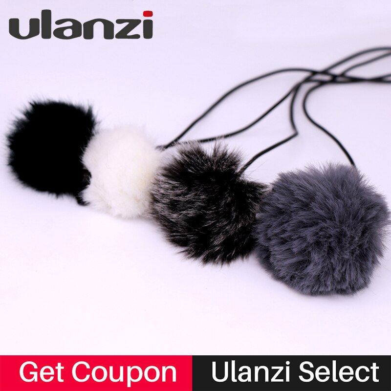 Ulanzi 4pcs/set Outdoor Microphone Windscreen Muff Cover Wind Shield for BOYA BY-M1 BY-WM4 Aputure Lavalier Label Microphone