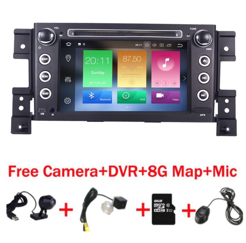2 din android 8.0 car DVD player for Suzuki grand vitara multimedia car radio stereo gps with steering wheel camera DVR Map