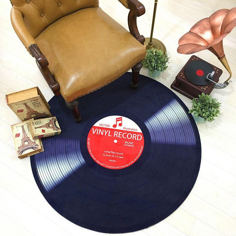 Tapis de sol rond de Style moderne pour décor à la maison tapis CD étude chaise tapis Pad diamètre 60 80 100 cm tapis de sol salon paillassons