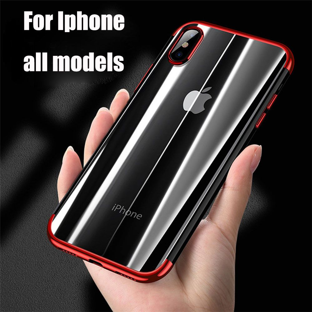 Phone Case For iPhone X 6 6s 7 8 plus Case Transparent Slim Case For iPhone X 6s plus 7 8 Ultra Thin TPU Silicone Cover