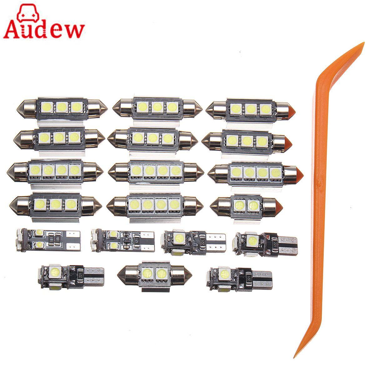 20 Pcs LED Car White Lamp Interior LED Light Kit With Tool for VW PASSAT B5 1997-2000