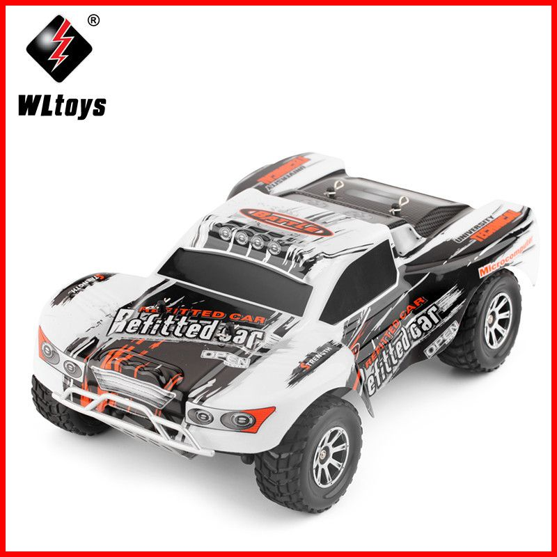 Original Wltoys RC Car A969 1/18 Scale Toys 2.4G 4WD 70km/h RC Drift Short Course Long Distance Control 4-wheel Shock Absorbe