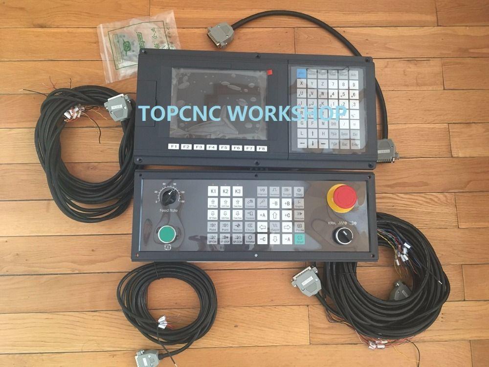 2 Achsen Neue Version Englisch Panel CNC controller für drehmaschine und schleifmaschine schrittservo g-code mit seite panel