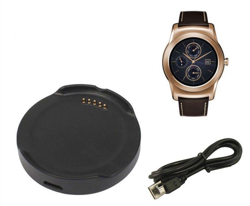 Smartwatch chargement berceau Dock pour LG G montre Urbane W150 montre intelligente chargeur adaptateur avec câble micro Usb