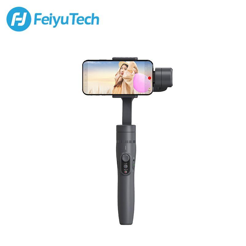 FeiyuTech Vimble 2 Feiyu 3 axes poche cardan Smartphone stabilisateur extensible pôle trépied pour iPhone X 8 XIAOMI Samsung