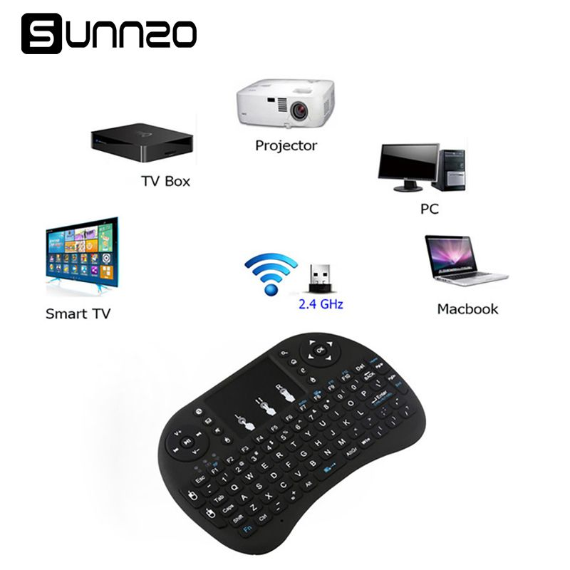 Sunnzo P9 mi ni Беспроводной клавиатура Air Мышь USB клавиатура дистанционного Управление сенсорная панель для Xiaomi mi box Android ТВ коробка A95X X96