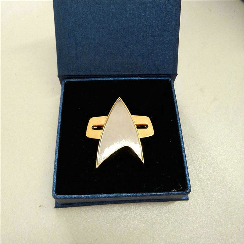 Cosplay Star Trek Badge Pin Insignia Cos Voyager Communicator Badge Pin Brooch Metal Alloy Zinc Halloween Party Prop