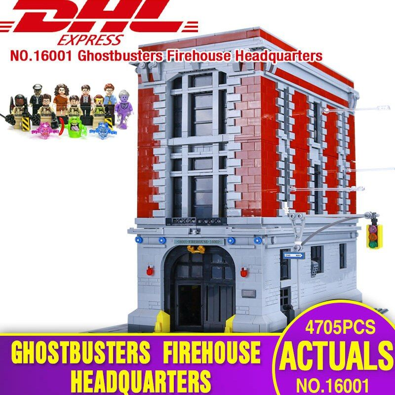 DHL LEPIN 16001 4705Pcs Ghostbusters Firehouse Headquarters Model Educational Building Kits Model set brinquedos legoings 75827