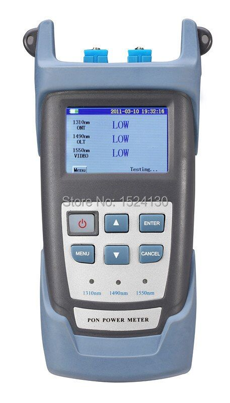 Handheld PON Optical Power Meter with PON Network Testing Wavelength (1490nm, 1550nm,1310nm) ONT / OLT RY-P100