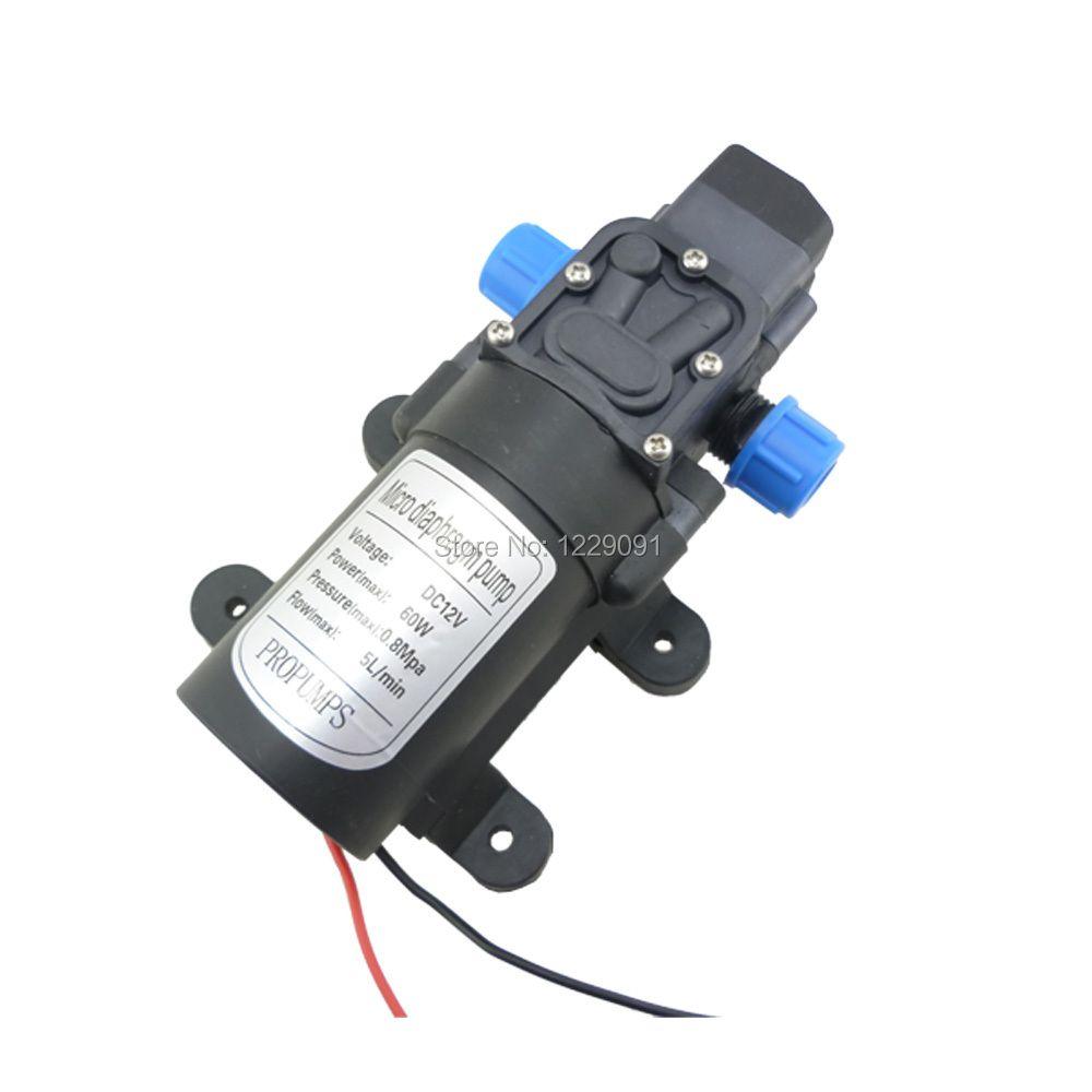 DC 12 volts 24v 60W 5L/min petite pompe à eau contrôle automatique du pressostat auto-amorçage pompe à eau haute pression