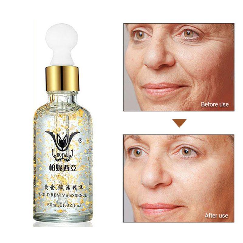Super Anti-rides Anti-âge collagène 24k or Essence blanchiment de la peau crème hydratante soins du visage acide hyaluronique liquide