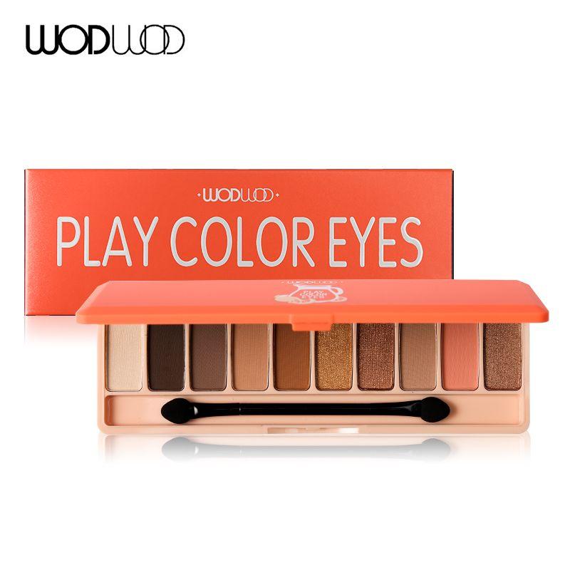 WODWOD 10 Colores Brillo Paleta de Sombra de Maquillaje de Larga Duración Shimmer Mate Lindo Partido Moda Maquillaje de Sombra de Ojos A Prueba de agua