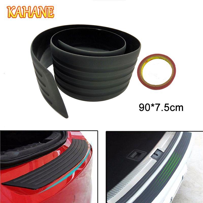 KAHANE 90 cm protection de pare-chocs arrière voiture SUV plaque de seuil de coffre en caoutchouc protection anti-rayures pour Audi A3 A4 A5 A6 Honda Civic Accord Fit