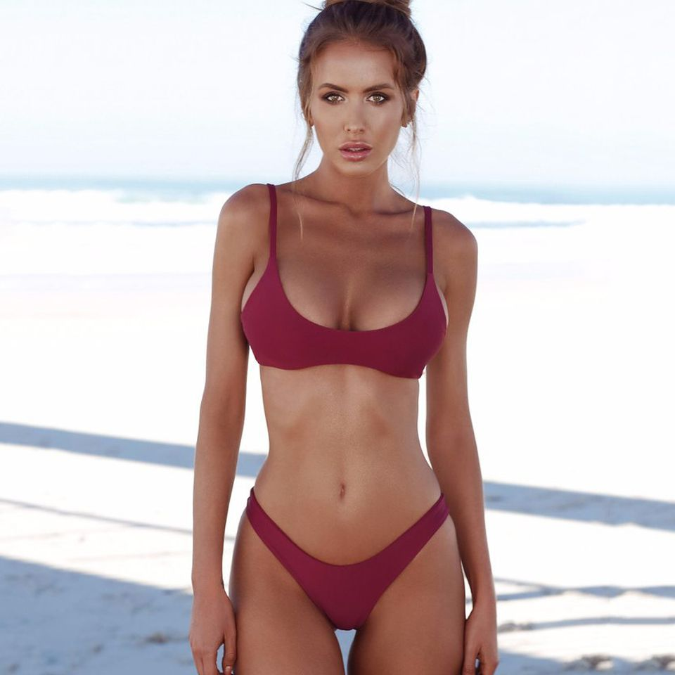 COSPOT Bikini 2019 Sexy Women Swimwear Brazilian Bikini Push Up Swimsuit Solid Beachwear Bathing Suit Thong Biquini Bikini Set