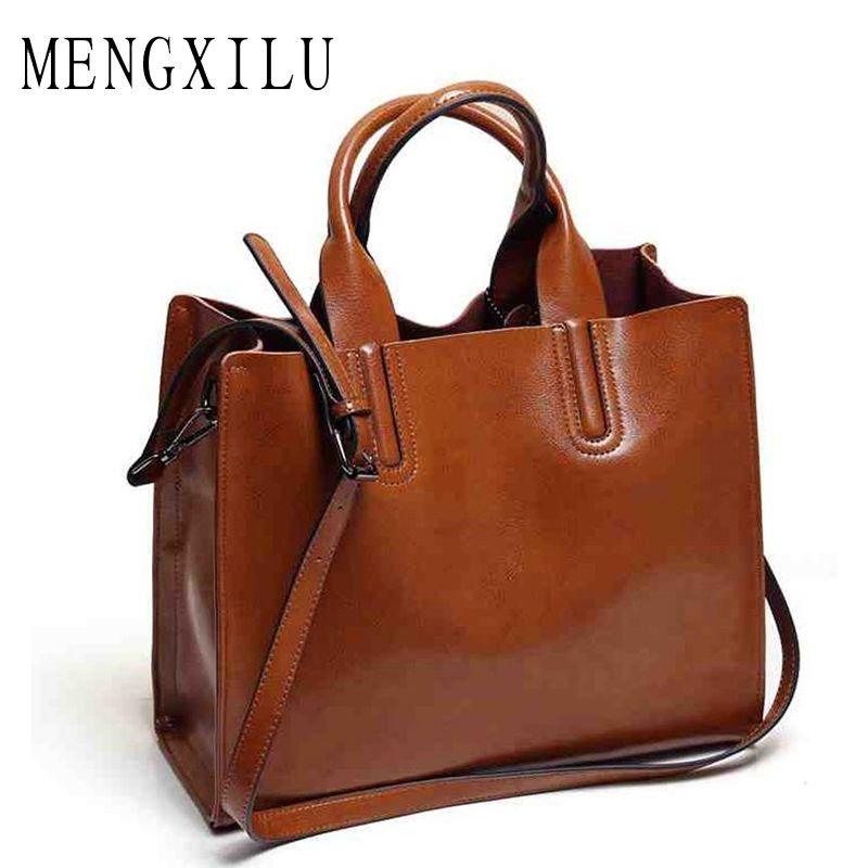 Leather Bags Handbags Women <font><b>Famous</b></font> Brands Big Casual Women Bags Trunk Tote Spanish Brand Shoulder Bag Ladies large Bolsos Mujer