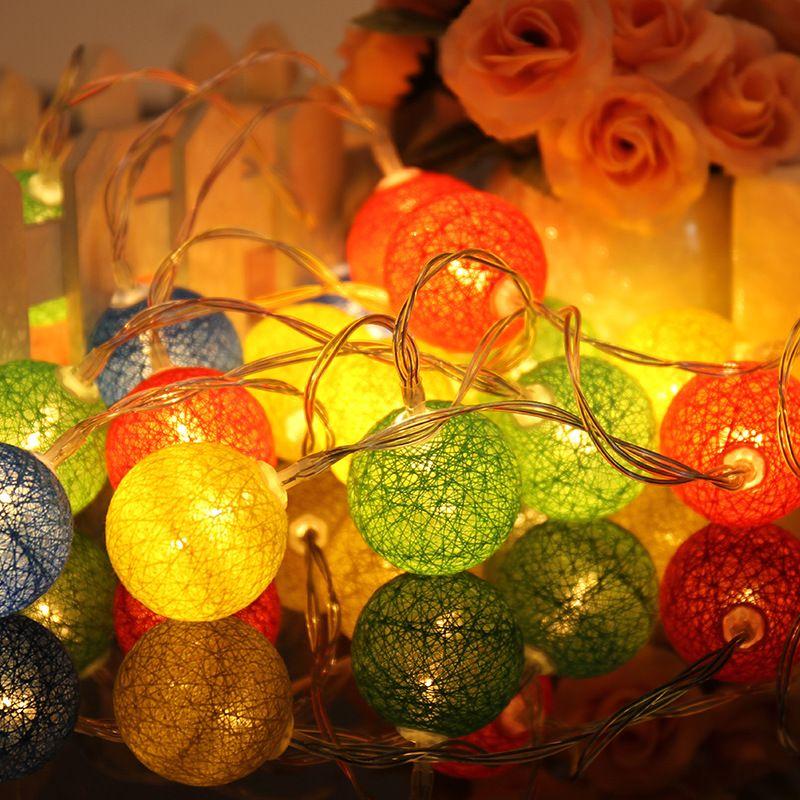 10 stücke LED Baumwolle Weihnachten Ball Licht Trockenen Batterie 1,2 mt String Lichter für Veranstaltungs Home und Bäume holliday Dekorationen