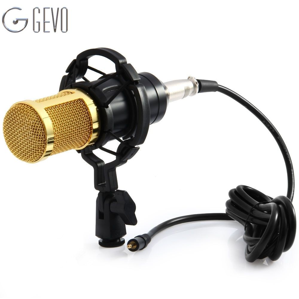 BM 800 Condenser Microphone Computer Professional Microphone 3.5mm Cable BM-800 Mic With Shock Mount For Karaoke Recording KTV
