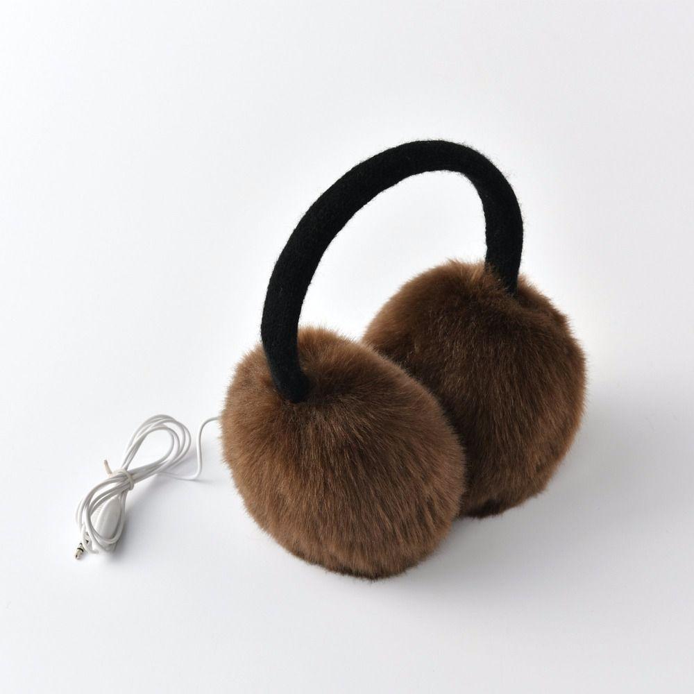 2017 KBB Spring   Winter 4 Colors  MP3 Music Headphone Women Lady Children Men Knit Warm Fashion Faux Fur Winter Plush Earmuffs