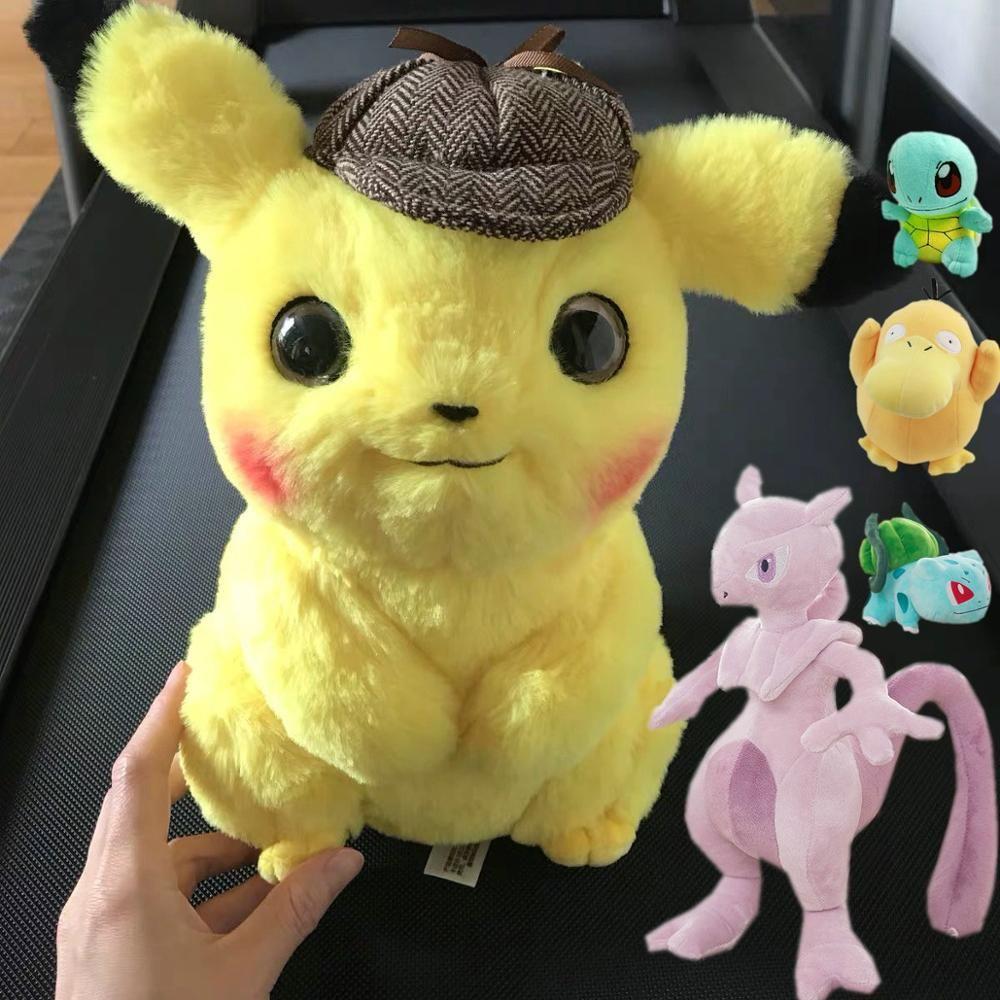 Pikachu peluche jouet Jigglypuff Poliwhirl Charmander Gengar jouets film anime poupée pour enfant bébé cadeaux d'anniversaire Anime doux
